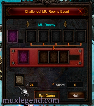 mu roomy mini game mu online