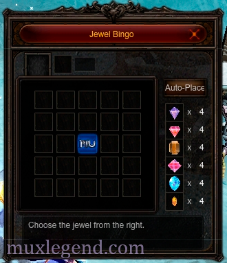 Bingo mu online mini game